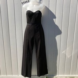 French Connection Black Strapless Pant Jumpsuit